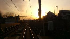 地下化前の世田谷代田駅踏切
