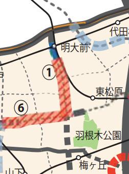 世田谷区の優先整備路線 補助154号線