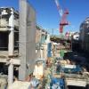 2015年1月末現在の下北沢駅(下北沢コルティ(仮称))工事状況