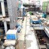 2015年2月末現在の下北沢駅(下北沢コルティ(仮称))工事状況