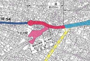 下北沢 再開発計画の再考に着手する方針
