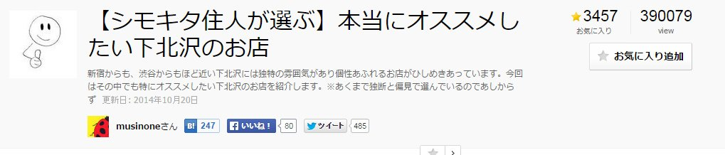 【シモキタ住人が選ぶ】本当にオススメしたい下北沢のお店