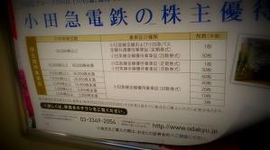 小田急線住民にとっての、小田急電鉄の株主優待