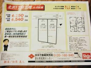 北沢1丁目土地 【下北沢周辺地価】