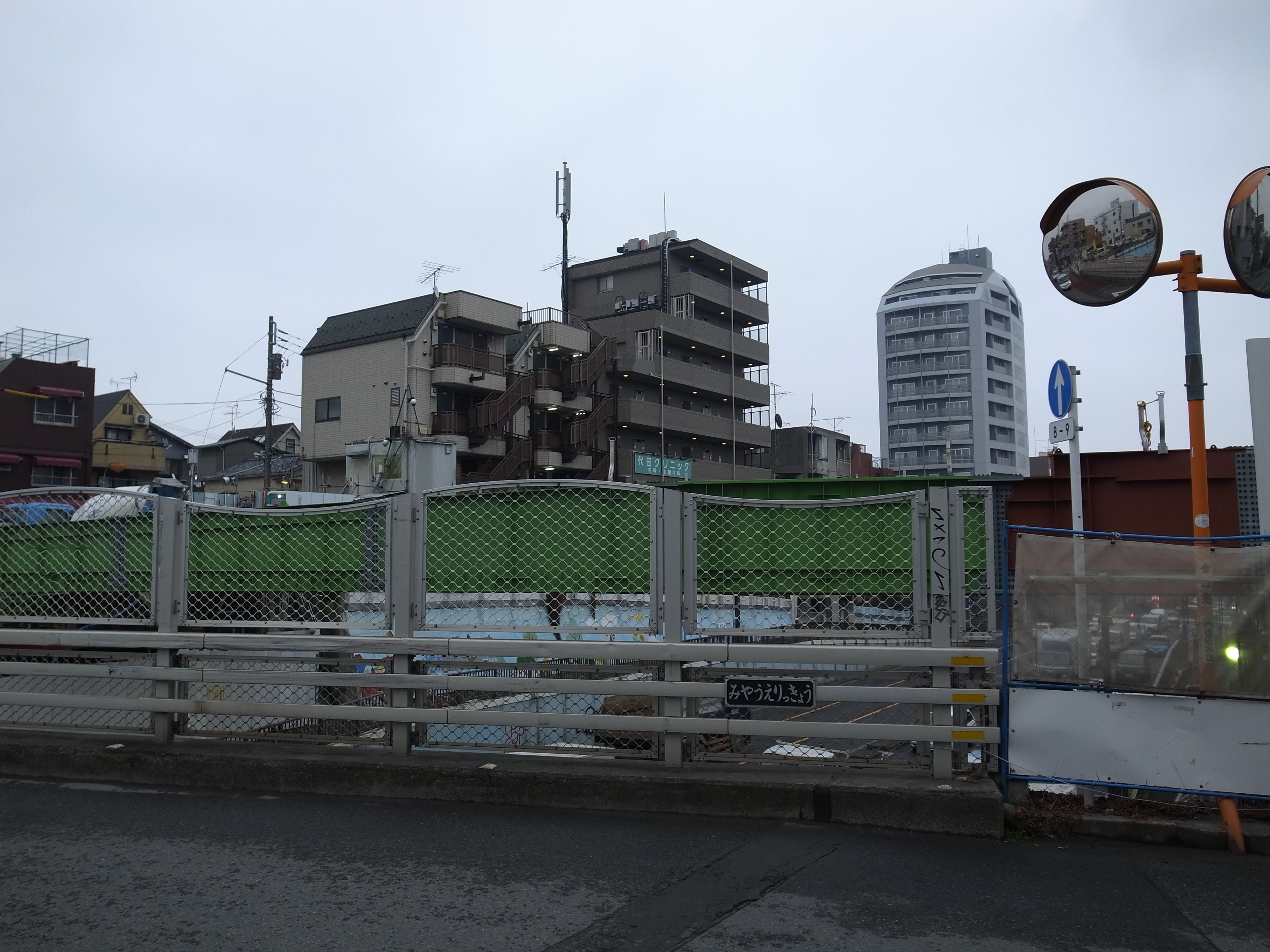 世田谷代田の環状7号線横断橋整備工事