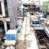 2015年2月末現在の下北沢駅(下北沢コルティ(仮称)→「シモキタエキウエ」)工事状況