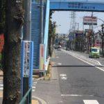 世田谷通りに自転車ナビマークが完備されていた