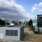 世田谷代田跨線橋から見た世田谷代田近辺(2017年6月)