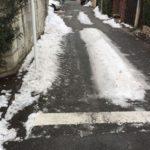 先週の大雪の教訓