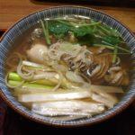 太子堂にある蕎麦屋さん「富田屋」で牡蠣南蛮蕎麦を食す