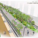 下北沢駅南西口から続く予定の立体緑地