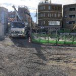 世田谷代田駅 駅前広場工事状況(2020年11月末)