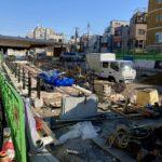 世田谷代田駅 駅前広場工事状況(2020年12月下旬)