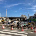世田谷代田駅 駅前広場工事状況(2021年1月下旬)