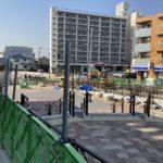 世田谷代田駅前広場が完成間近