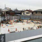 小田急線下北沢駅南西口の駅ビル工事状況(2021年1月下旬)