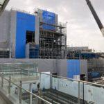 小田急線下北沢駅南西口の駅ビル工事状況(2021年4月上旬)