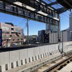 井の頭線・下北沢駅からの景色
